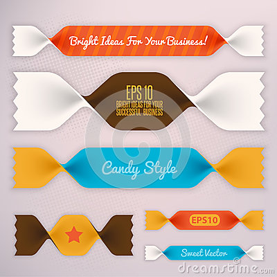 Infographics illustration.Ribbons
