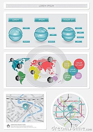 Infographics och rengöringsdukbeståndsdelar