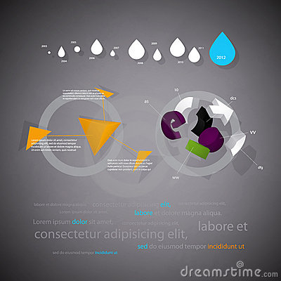 Infographics statistical three-dimensional report