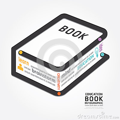 Free Infographics Vector Book Design Diagram Line Style Timeline Stock Images - 42421054