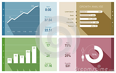 Infographics vector flat design. Financial Busines