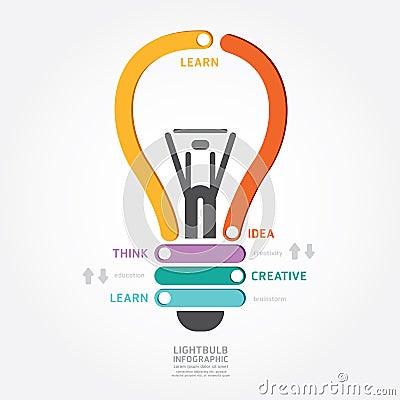 Free Infographics Vector Lightbulb Design Diagram Line Style Stock Photos - 41202183