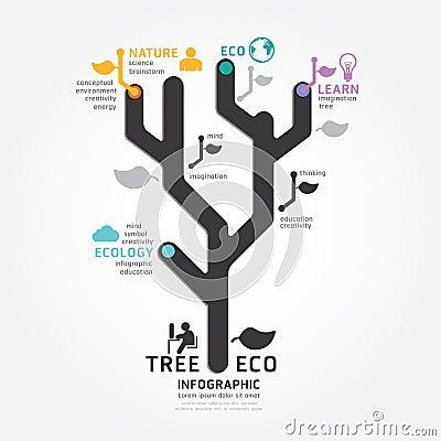 Free Infographics Vector Tree Design Diagram Line Style Stock Photo - 41202820