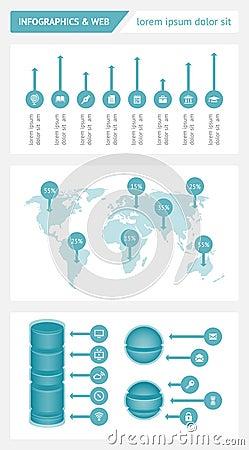 Infographics y elementos de la tela