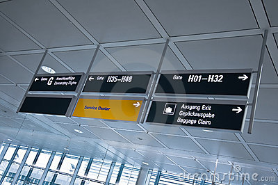 Information at the airport
