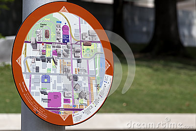 Information Map - Nashville Tennessee (downtown) Editorial Photo