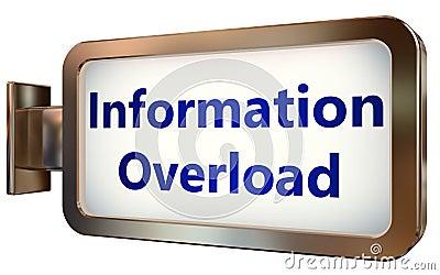 Information Overload on billboard background Stock Photo