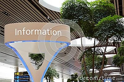 Information sight, Singapore Changi international airport Stock Photo