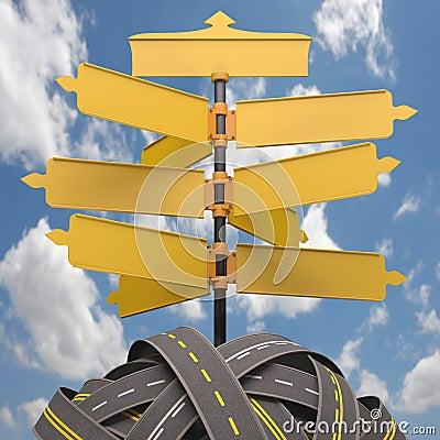 Informations-Verkehrs-blauer Himmel