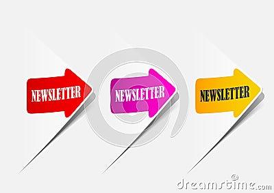 Informationsblad realistiska designbeståndsdelar