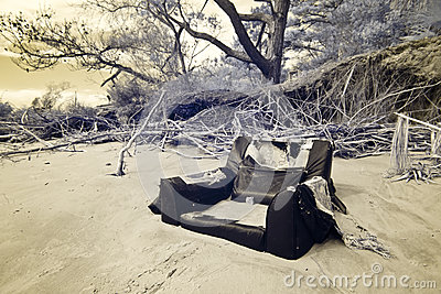 Infrared shot of flood damage