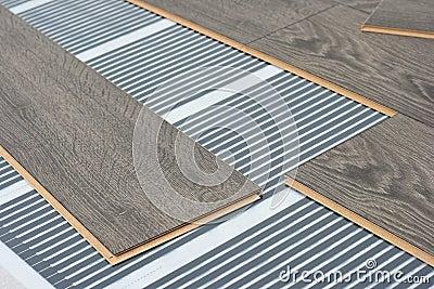 Infrared Floor    Heating    System Under Laminate Stock Image  Image  23930251