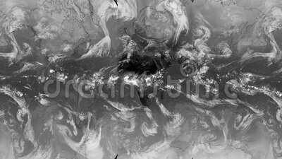 Infrared whether map,clouds world map live video from satellite in 2020 , climate change  during corona virus pandemic outbreak.  royalty free illustration