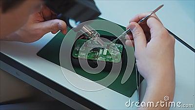 Ingénierie de matériel Concept de la science de technologie Bourdon de soudure d'air de promoteur clips vidéos