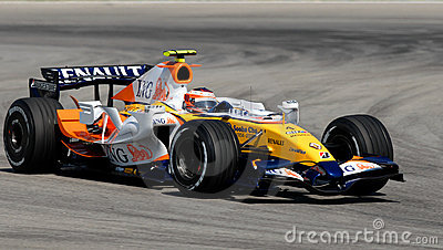 ING Renault F1 Team R27 Heikki Kovalainen Finnish Editorial Stock Photo