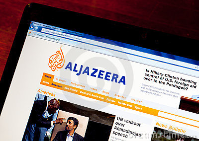 Inglês de Jazeera do Al Foto de Stock Editorial