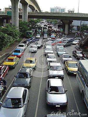 Ingorgo stradale Bangkok