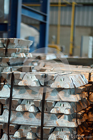 Ingots in factory