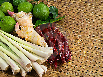 Ingredient of Thai curry