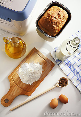 Ingredients for baking of bread