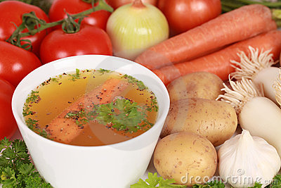 Ingredients for a broth