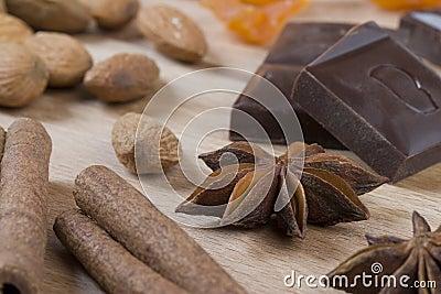 Ingredients for christmas cookies