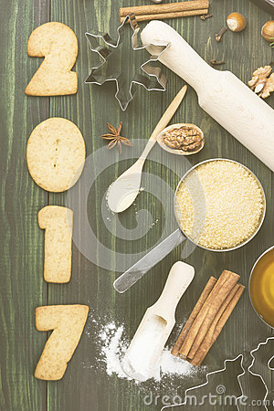 Free Ingredients For Christmas Ginger Gingerbreads With Honey And Cin Royalty Free Stock Photography - 80138017