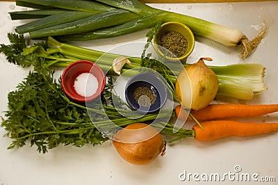 Ingredients for Leek Soup