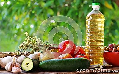 Ingredients of mediterranean cuisine