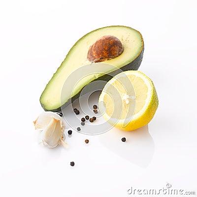 Free Ingredients Of Avocado Cream Stock Photo - 31705680