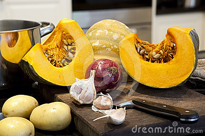 Ingredients for Pumpkin Soup