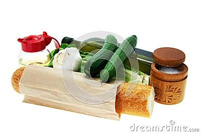 Ingredients salad. Belarusian dish.