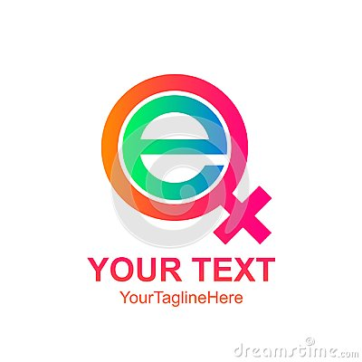 Free Initial Letter E Logo Template Colorfull Female Icon Design For Royalty Free Stock Photography - 117071617