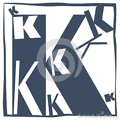 Initial letter k stock vector image 58985160 for Letter k decoration