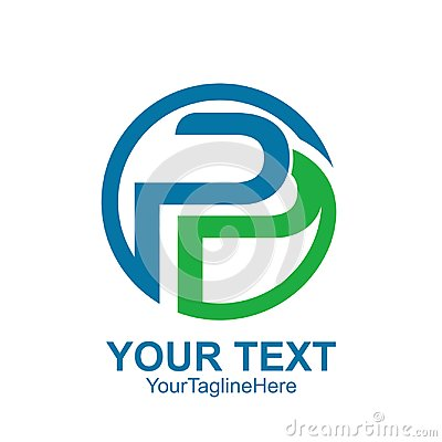 Free Initial Letter P Or PP Logo Template Colored Blue Green Circle D Stock Image - 117677201