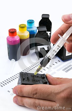 Injecting ink cartridge