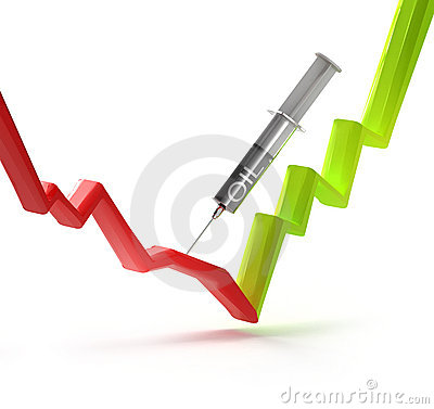 Injecting stock graph with oil