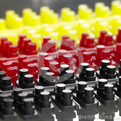 Injection molded plastic pieces