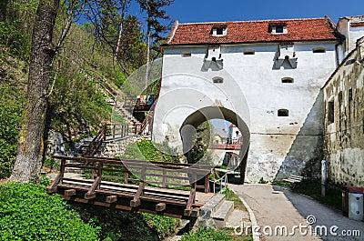 Injerte el bastión, ciudad medieval de Brasov, Rumania