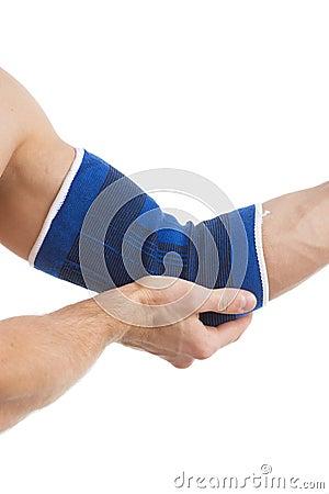 Injured elbow.