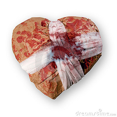Free Injured Heart. Stock Photo - 17395410