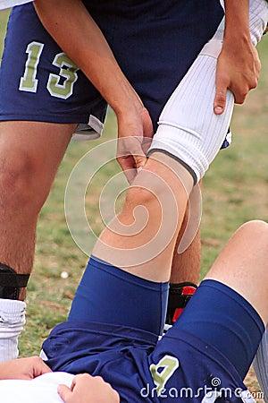 Free Injured Leg Royalty Free Stock Image - 3215916