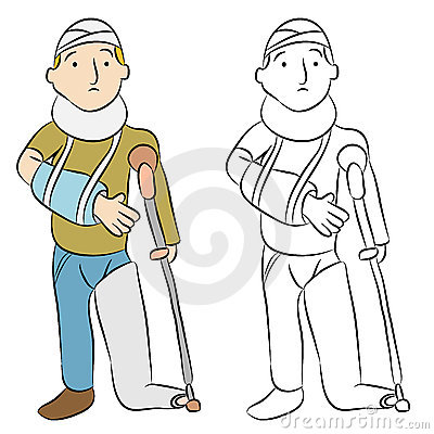 Injured Man Vector Illustration