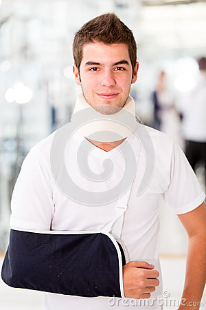 Injured man