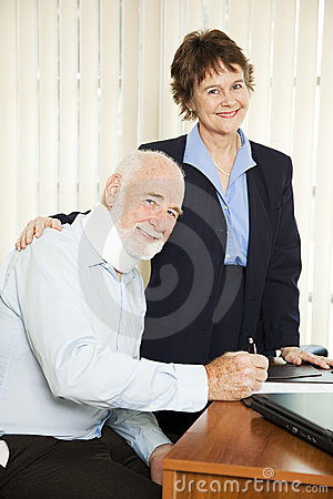 Injured Man with Lawyer