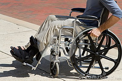Injured Man Wheelchair
