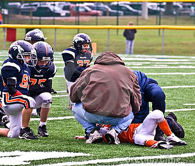 Injured Player Youth Football Editorial Stock Photo