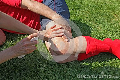 Injured sportsman