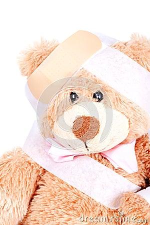 Injured Sweet Teddy Bear