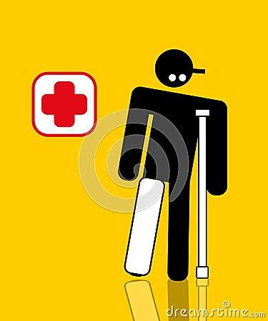 Injured worker with broken leg